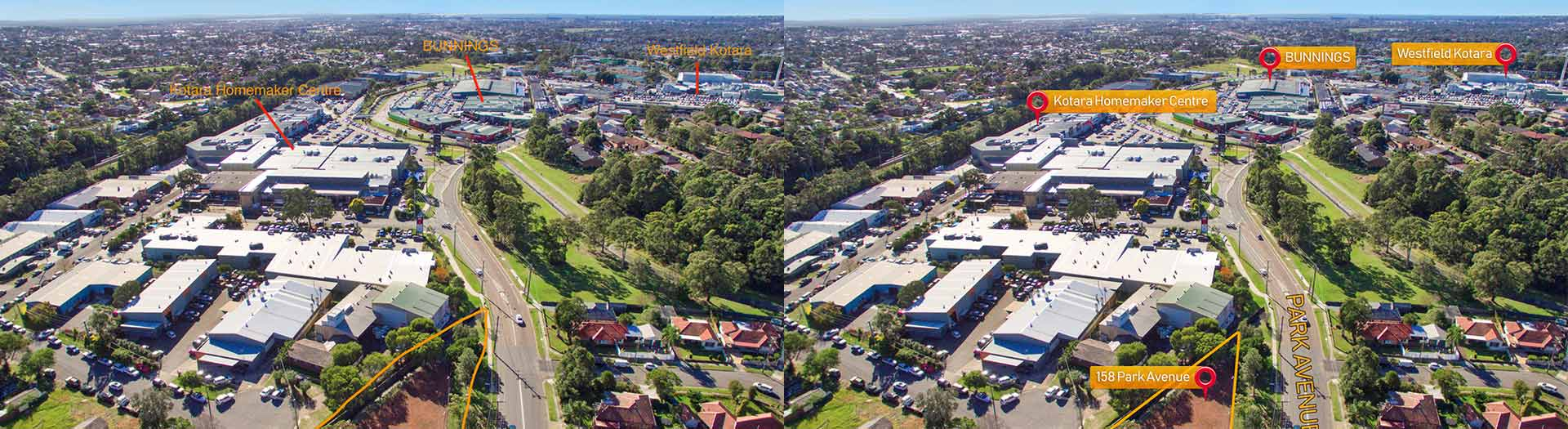 Aerial Editing – before and after