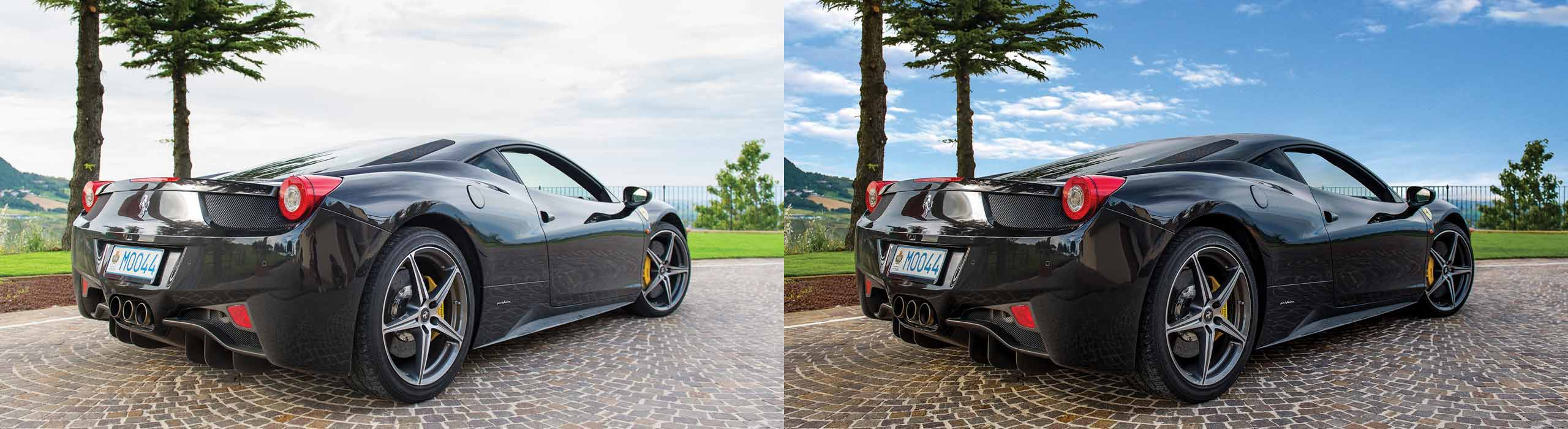 Automotive Image Enhancement – before and after
