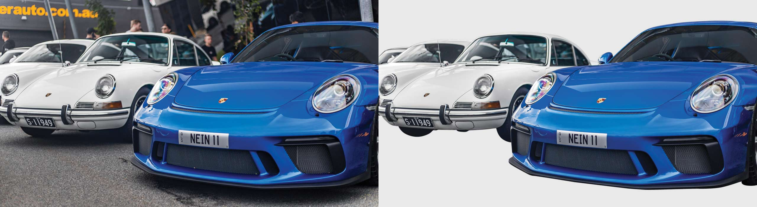 Automotive Background Removal – before and after