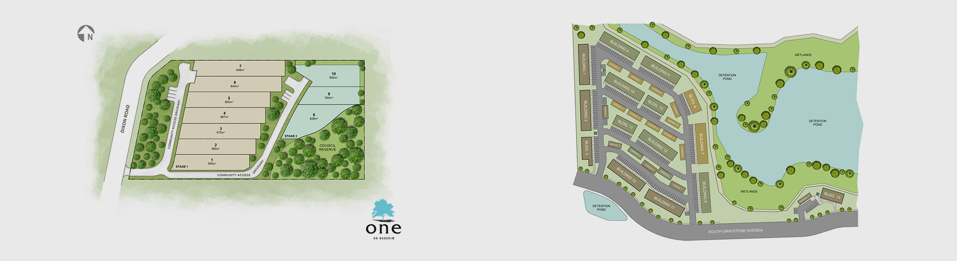 Development Site Plan – before and after