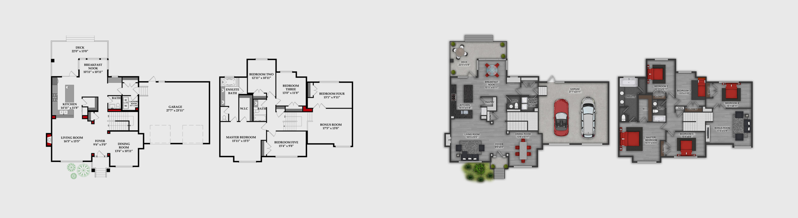 Floor Plan – before and after