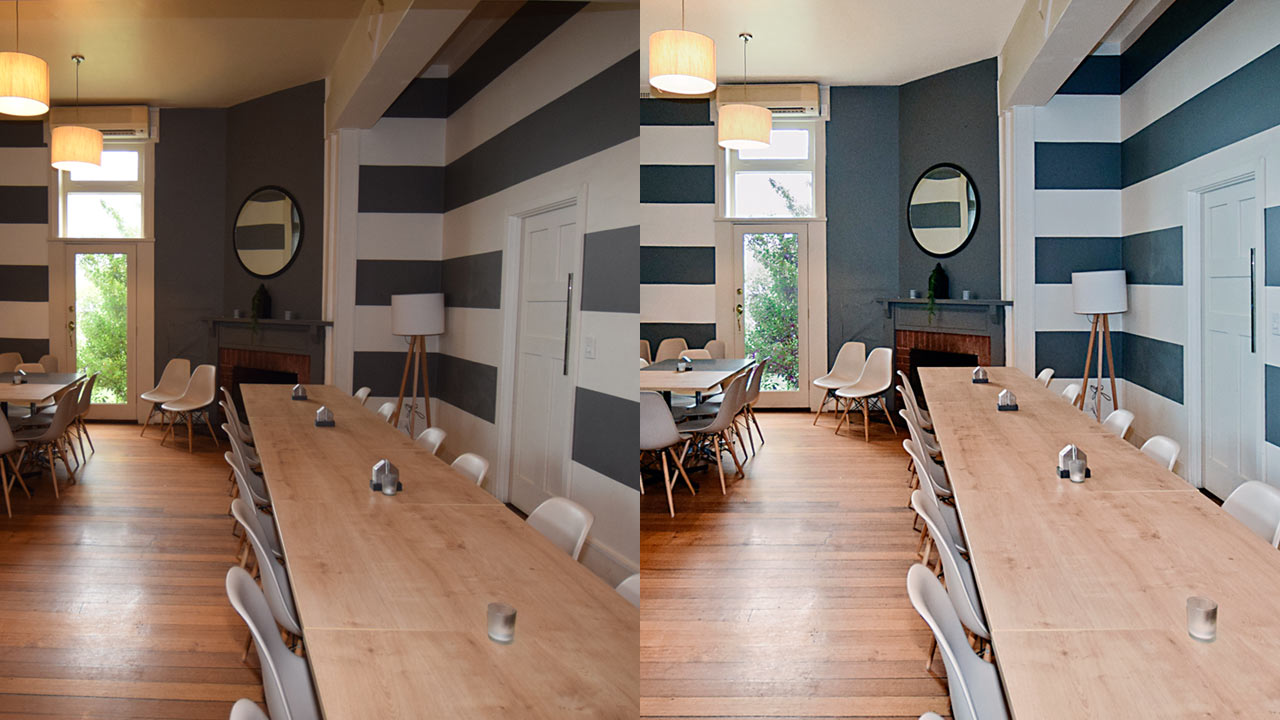 Commercial Image Enhancement – before and after