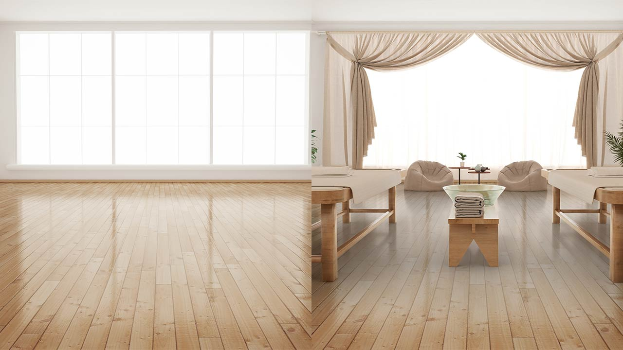 Commercial Virtual Staging – before and after