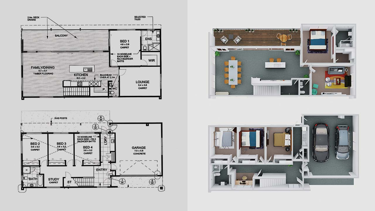 Floor plan redraws