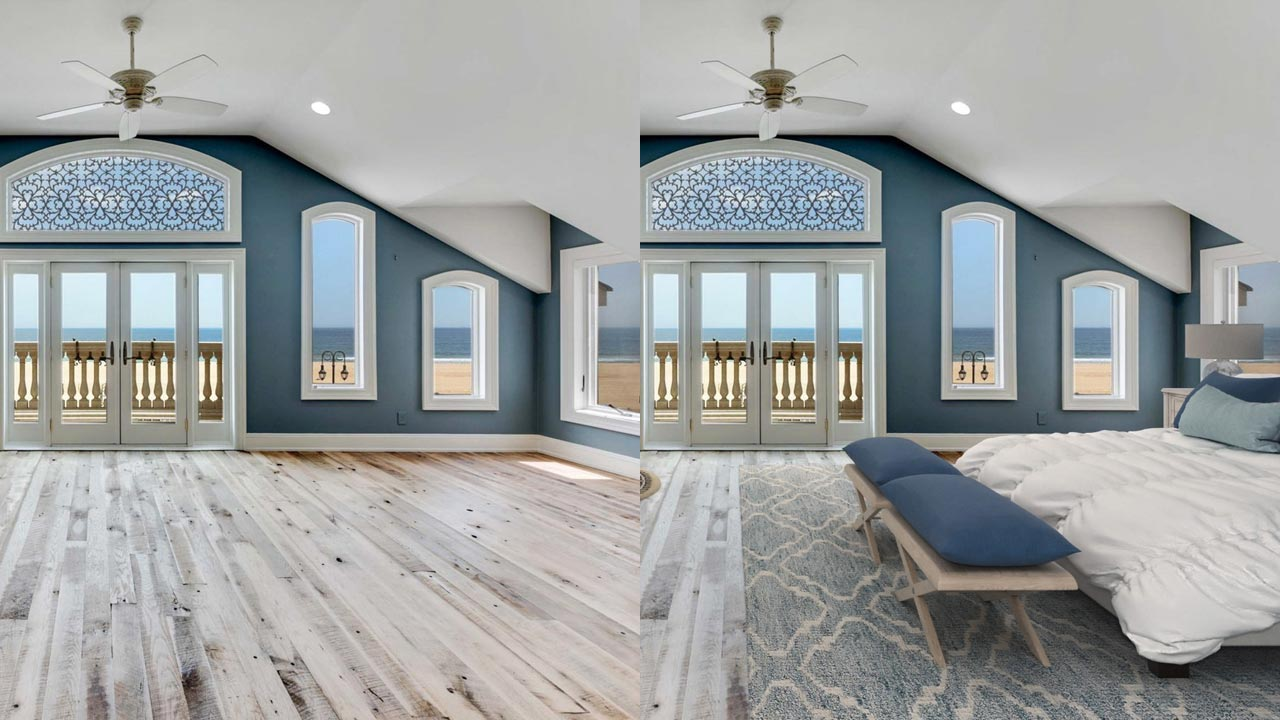 Virtual Staging – before and after